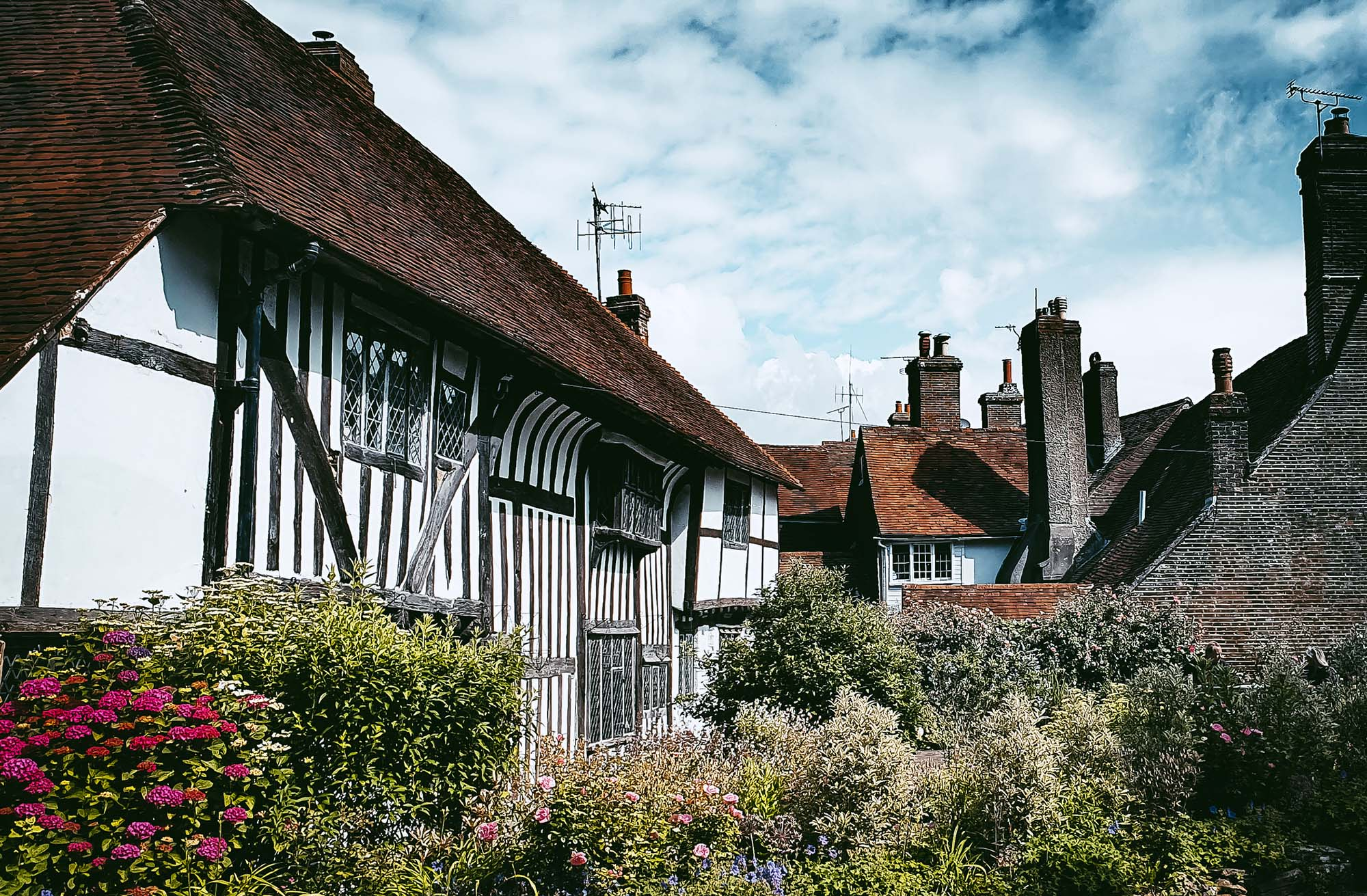 Old English home country living